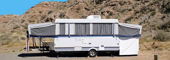 RV Camping Rentals at Gardens Oasis - Lobo, Texas